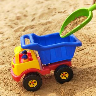 宝宝儿童玩具车工程车耐摔加厚沙滩大号翻斗车推土车沙滩玩具车