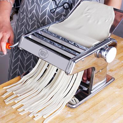 不锈钢压面机擀饺子混沌皮多功能家用面条机手摇手动小型多功能机