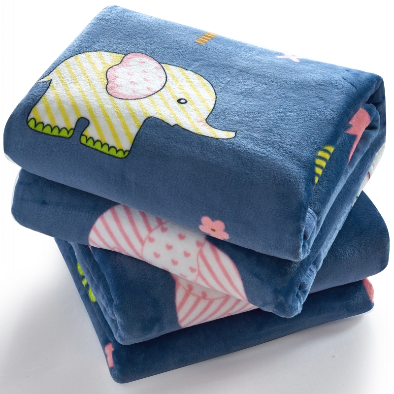 Flannel blanket thickened warm female winter coral blanket single student dormitory blanket