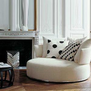 卓罗家居 圆形布艺沙发 客厅休闲沙发 单人布艺沙发x02011