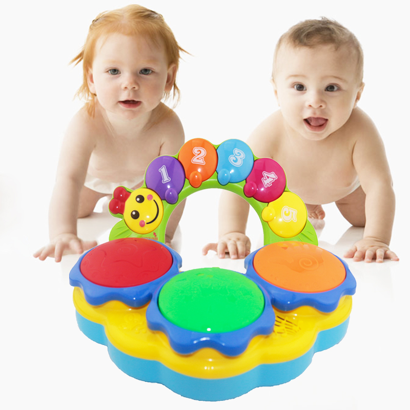Baby music clapping drum baby electric hand clapping drum children dynamic clapping drum early education music toys 0-3 years old