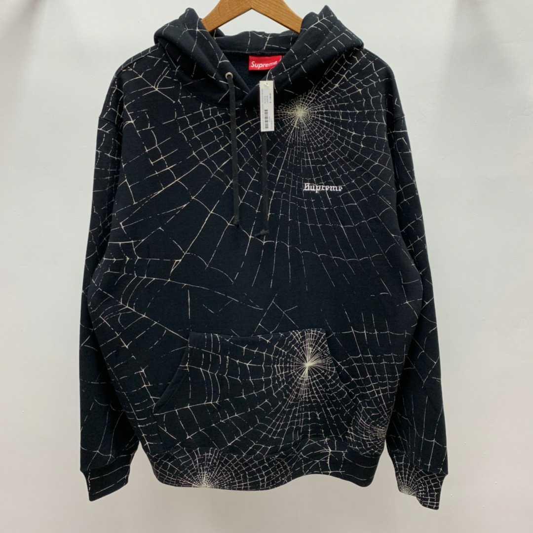 蜘蛛网卫衣Superme 16AW Spider Web Hooded Sweatshirt 连帽卫衣图片
