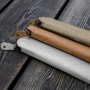 水洗牛皮纸创意简约可爱迷你笔袋