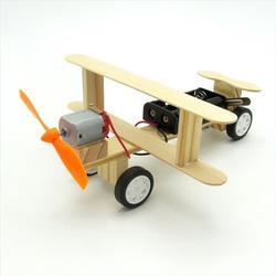 飞机DIY组装套件手工模型电动玩具科技小制作直升机配件套