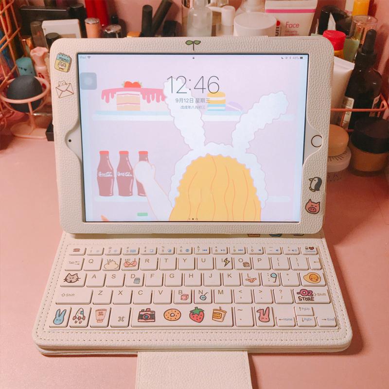 8thdays2019新款苹果8平板ipad保护套air4/3/2/1键盘mini5防摔2020蓝牙pro10.2可爱10.9少女心11一体壳12.9寸