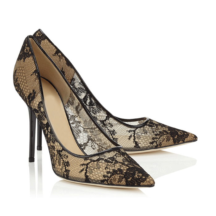 Seckill all versions of JC high-heeled shoes, thin heel, shallow mouth, pointed head, lace, leather, summer silk, new womens sandals, single shoes
