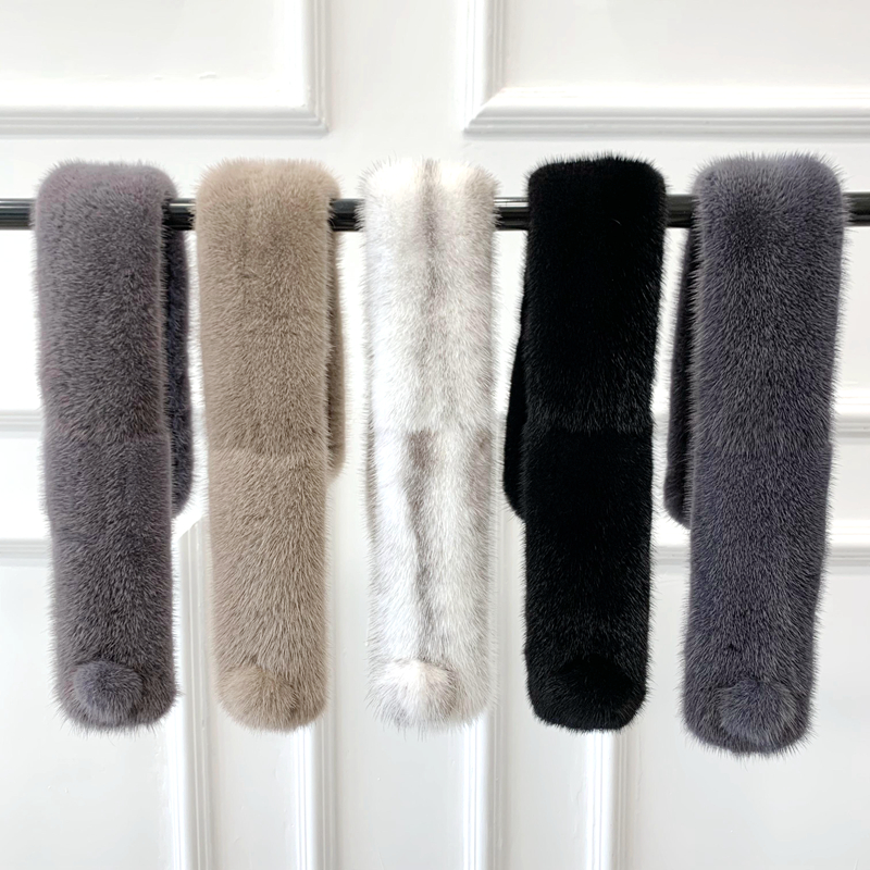Imported mink hair scarf for women in winter