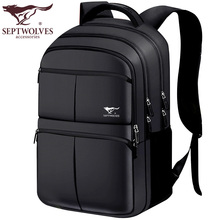 Seven Wolves Shoulder Bag Male Korean Edition Fashion Large Capacity Backpack Male Bag Business Leisure Travel Bag Computer Bag