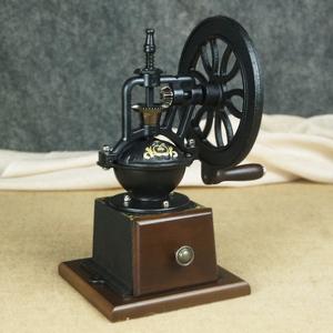 复古咖啡豆研磨机 家用手摇磨豆机手工小型手动磨咖啡机现磨铸铁