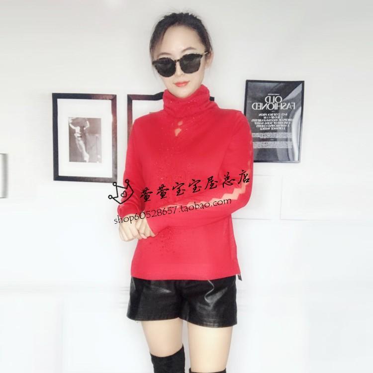 发泰鑫格专柜正品2018秋冬新款韩版女装毛衣大码羊毛针织衫66005