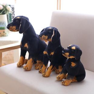 仿真毛绒玩具小公仔玩偶罗威纳那黑狗生日礼物礼品毛绒布艺类玩具