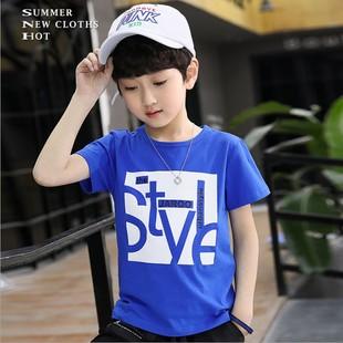 巴拉bala男童短袖 新款 2020夏季 T恤儿童纯棉圆领体恤衫 中大童T恤