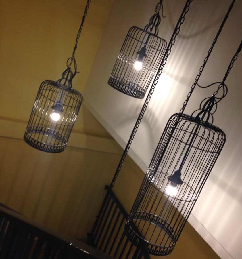 铁艺鸟笼灯中式鸟笼吊灯创意仿古阳台楼梯通道吊灯落地装饰工程灯