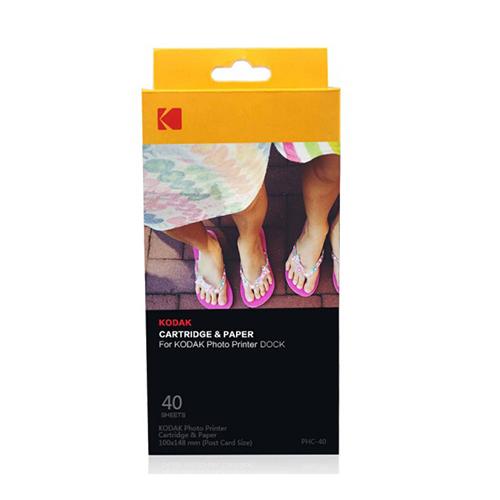 柯达PD450 450W照片打印机原装相纸 照片纸 含色带自动覆膜