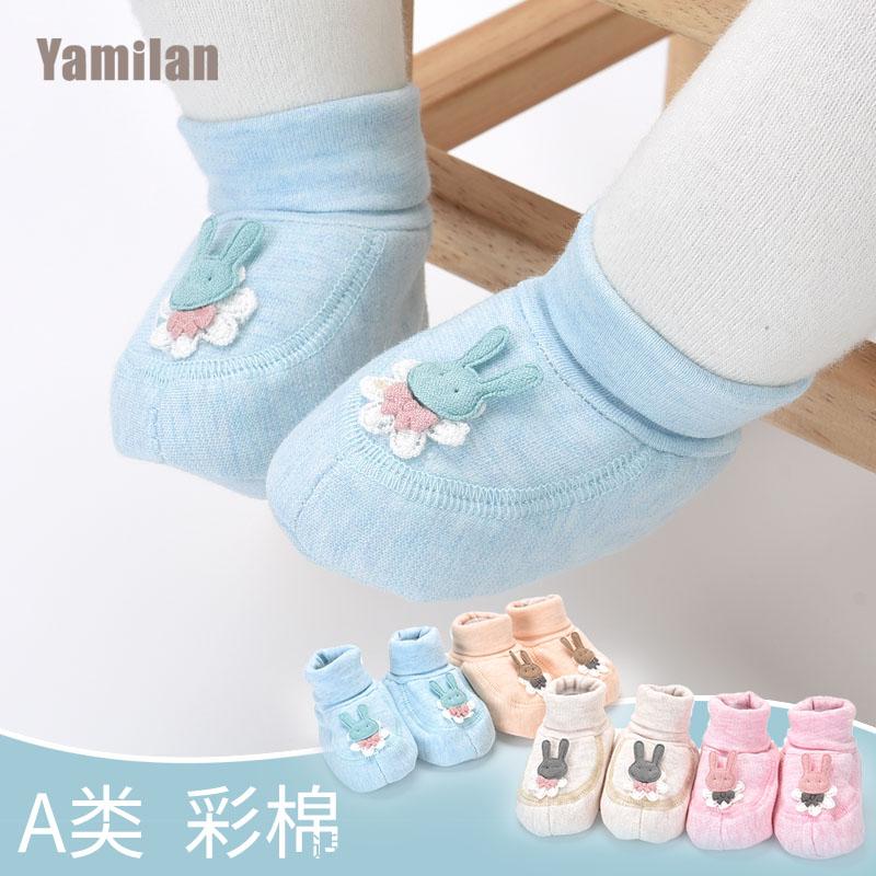 新生儿鞋子软底春秋棉宝宝鞋婴儿袜