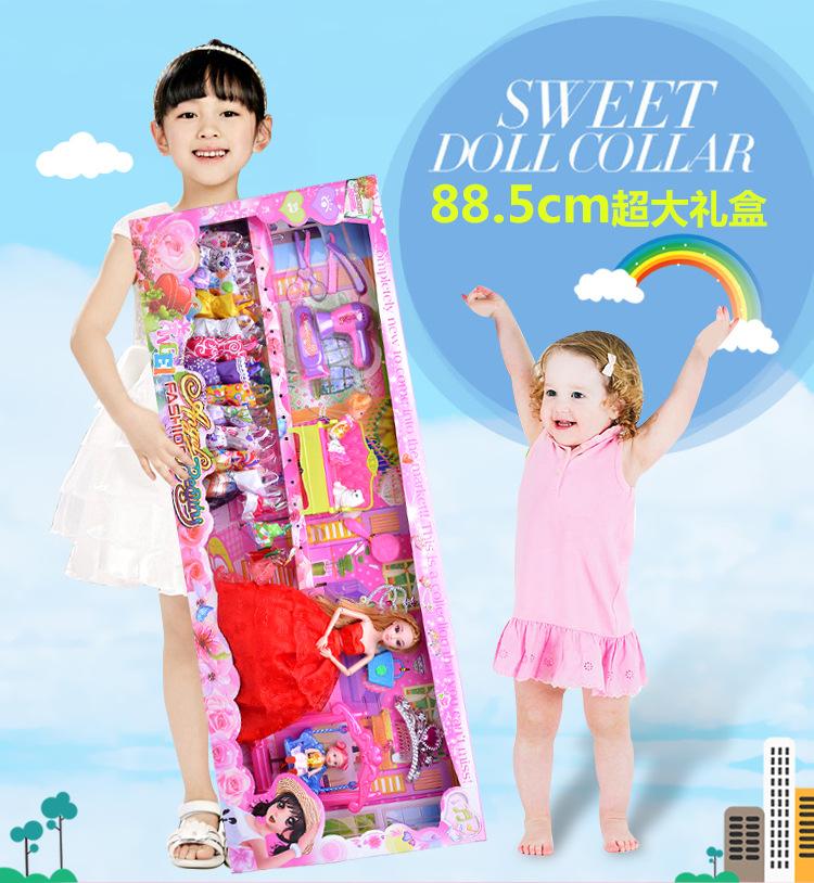 芭比娃娃换装3D真眼套装大礼盒生日礼物包邮