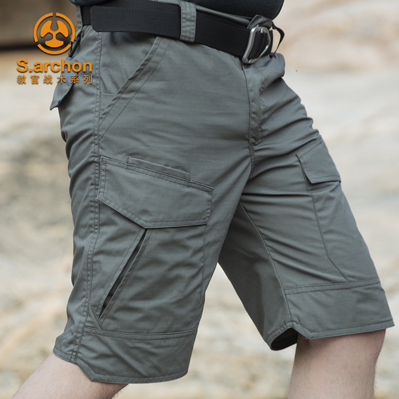 夏季薄款战术裤男速干迷彩短裤户外工装半裤五分裤防水特种兵军迷