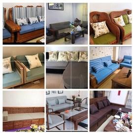 沙发套家具50d联邦椅海绵沙发垫订做。椅子垫i翻新中国风床边卡座