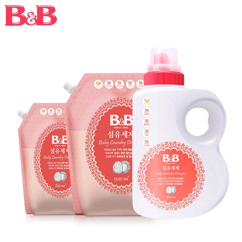 韓國保寧 嬰幼兒治菌洗衣液桶裝1500 補充裝1300 洗衣液800ml套裝