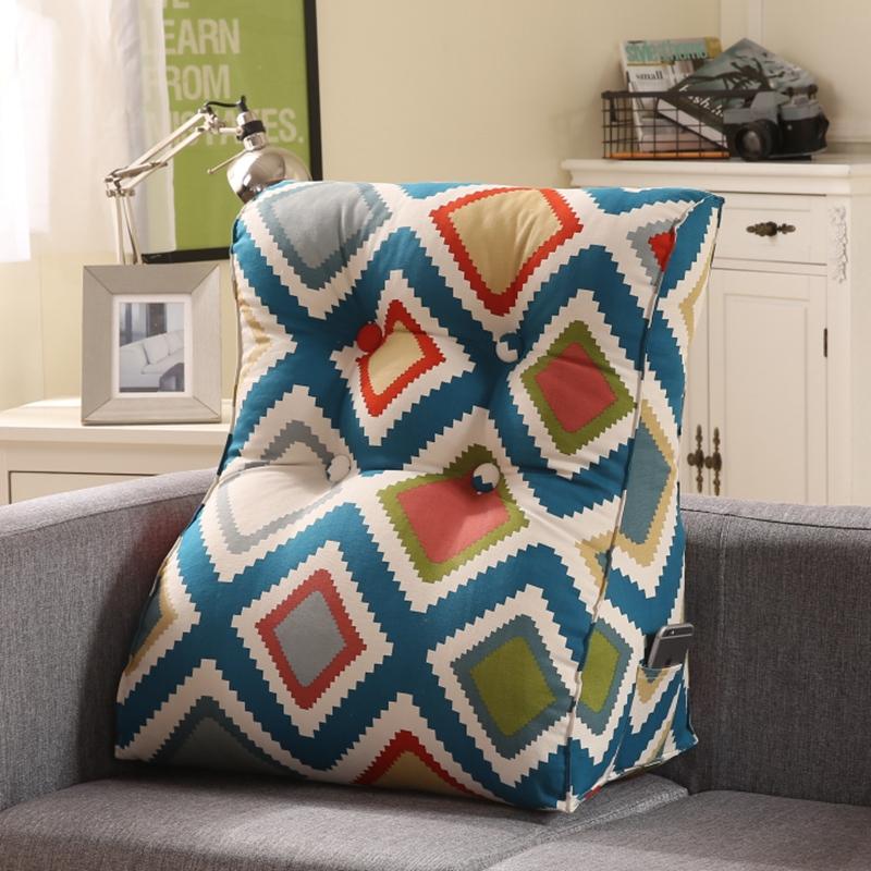 立体三角床头床上软包沙发护腰靠垫