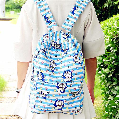 书包女韩版原宿ulzzang 高中学生帆布双肩包哆啦a梦个性可爱背包