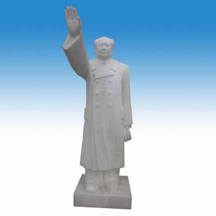 石雕毛泽东像 汉白玉毛主席雕像 人物雕塑摆件 名人雕像 曲阳石雕