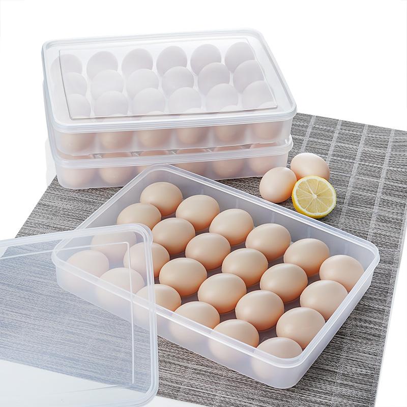 日本鸡蛋收纳盒冰箱用放鸡蛋的收纳盒24格冰箱保鲜收纳盒塑料防震