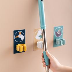 拖把挂钩壁挂式粘钩浴室扫把墙上固定卡扣拖把夹免打孔拖布收纳架