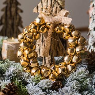 【掬涵】Jingle Bells铃铛花环风铃串圣诞节装饰挂件摆件挂饰吊饰价格