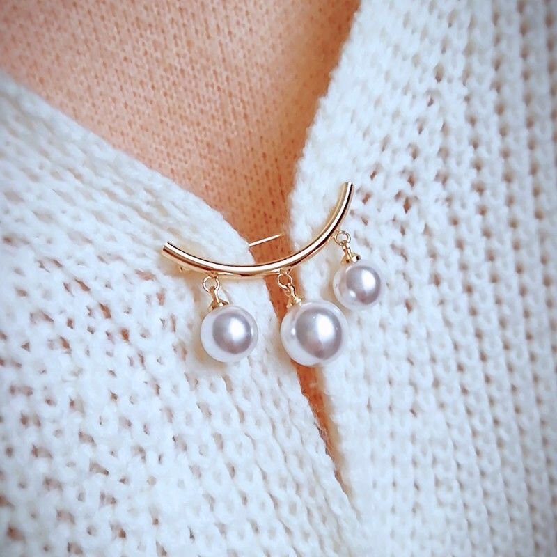 Buy two get one free fashion summer versatile Brooch anti light Brooch button decoration collar pin fixed clothing button