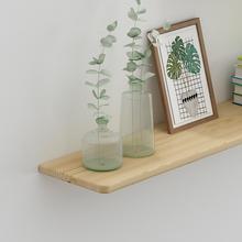 实木一字隔板壁挂木板置物架装饰电视背景墙墙上原木书架挂墙隔板