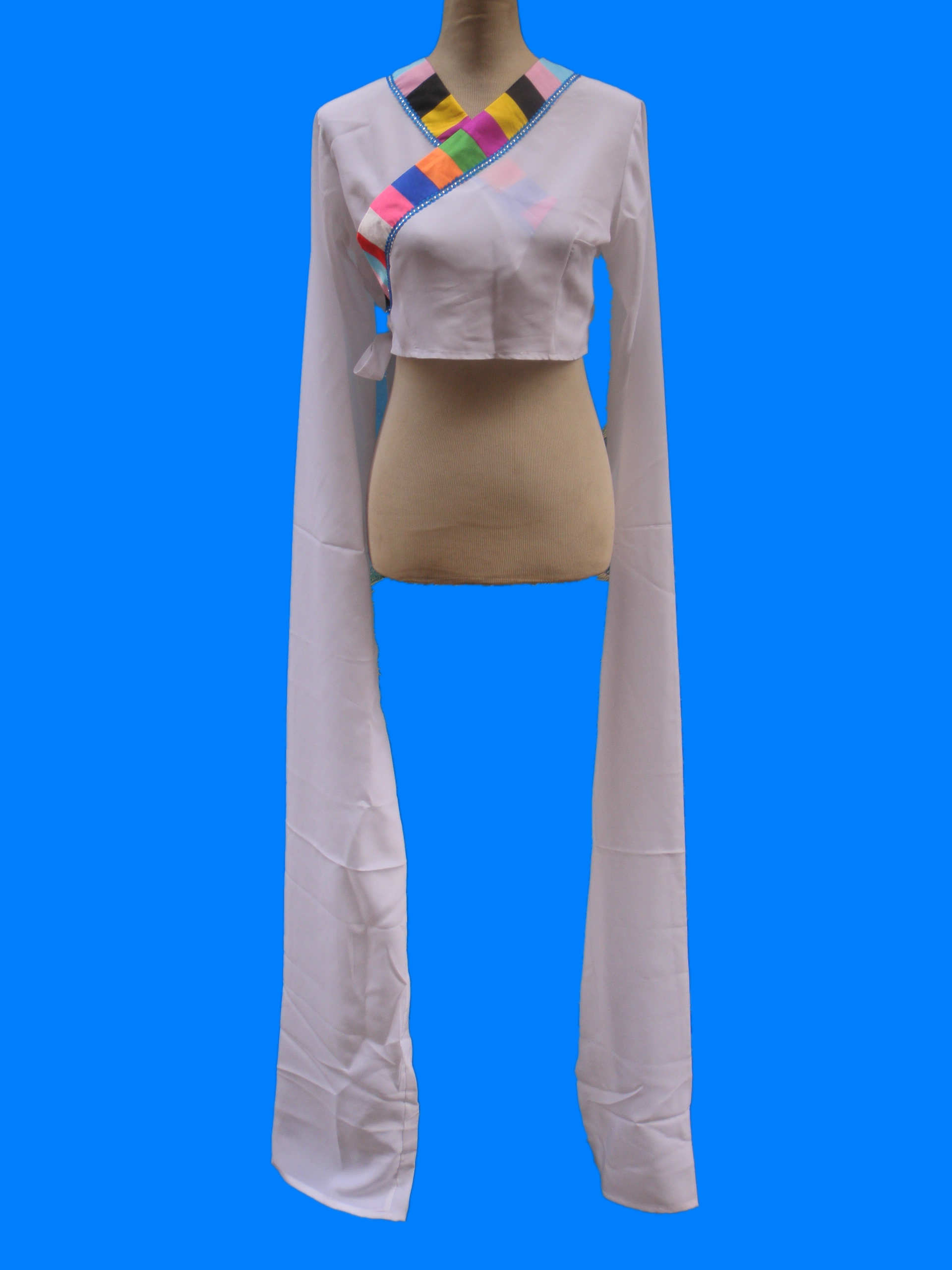 [藏族舞蹈成人少儿水袖练功水袖民族舞蹈水袖成人] стиль длина рукава [160厘米]
