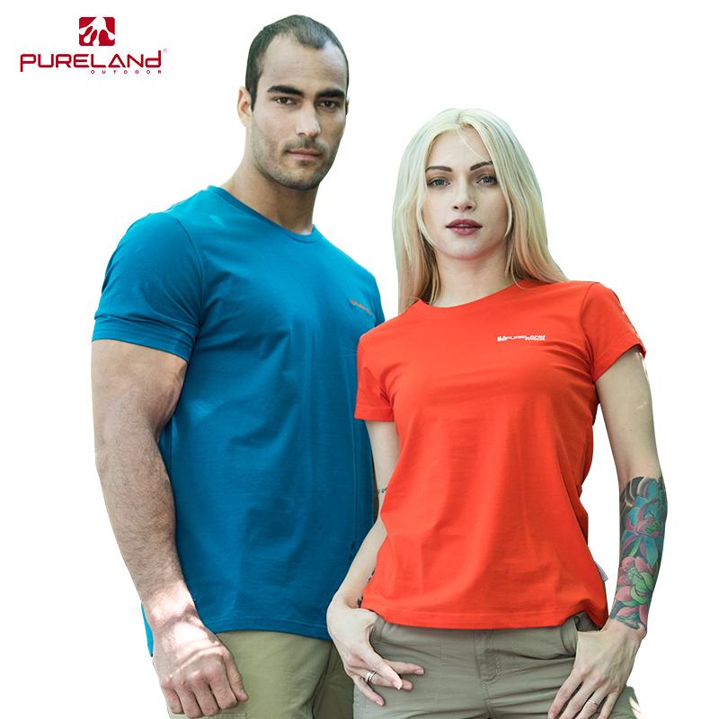 普尔兰德夏季新款情侣休闲T恤 圆领弹力吸汗透气户外全棉短袖包邮