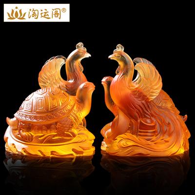 淘运阁属蛇的2019龟凤保岁琉璃摆件生肖蛇摆放的凤舞贺岁吉祥物