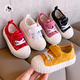 宝宝布鞋春秋新款儿童帆布鞋韩版男女童魔术贴休闲板鞋透气饼干鞋