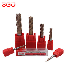 Taiwan SGO 60-degree ultra-particle tungsten steel milling cutter CNC tool alloy coated vertical milling cutter 1-20mm S600