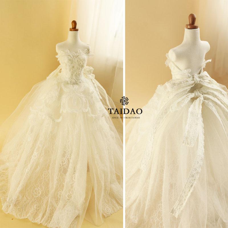 台岛DIY手工布艺缝纫迷你白色BJD 3分娃娃婚纱制作材料包