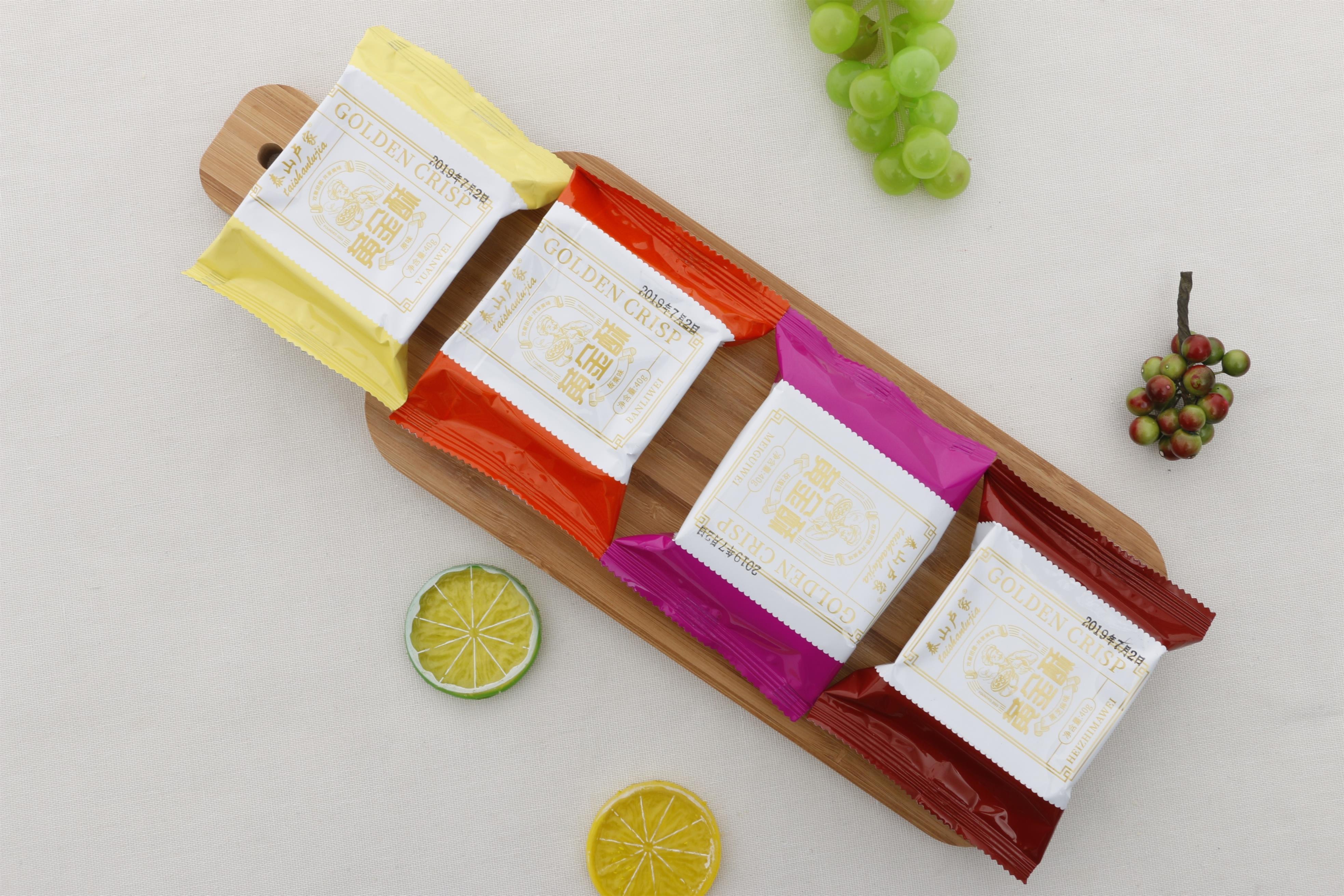 泰山卢家黄金酥传统零食糕点休闲小吃点心月饼酥饼40克×12个