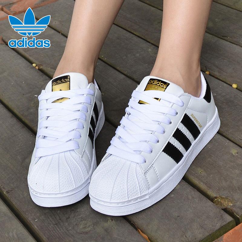 阿迪达斯三叶草女鞋男鞋休闲板鞋金标贝壳头小白鞋运动鞋EG4958图片