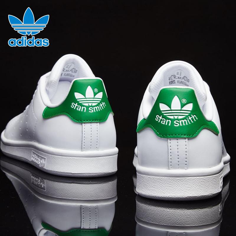 阿迪达斯男鞋女鞋三叶草板鞋2020春夏季史密斯绿尾小白鞋潮M20324图片