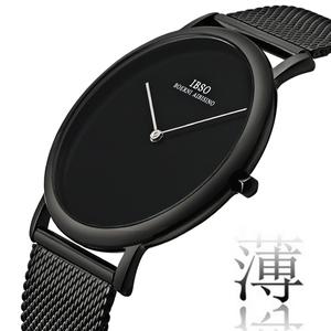新款超薄鋼帶防水潮流時尚手表男 簡約網帶男士石英表 創意男腕表