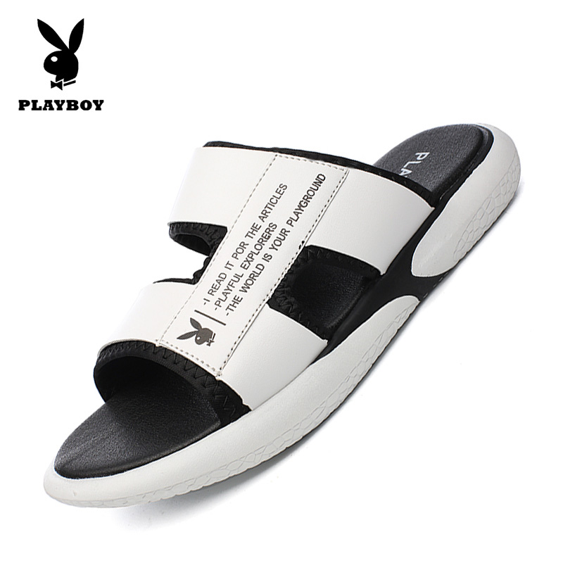 Playboy slippers for men wear soft bottom sandals for men in summer