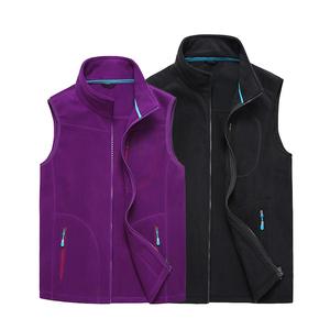 新款户外男女款抓绒马甲摇粒绒保暖抓绒衣运动背心开衫加厚外套潮