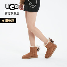 UGG2019 Autumn and Winter New Ladies Snow Boots Mini Bailey Mesh Butterfly Tie 1019994