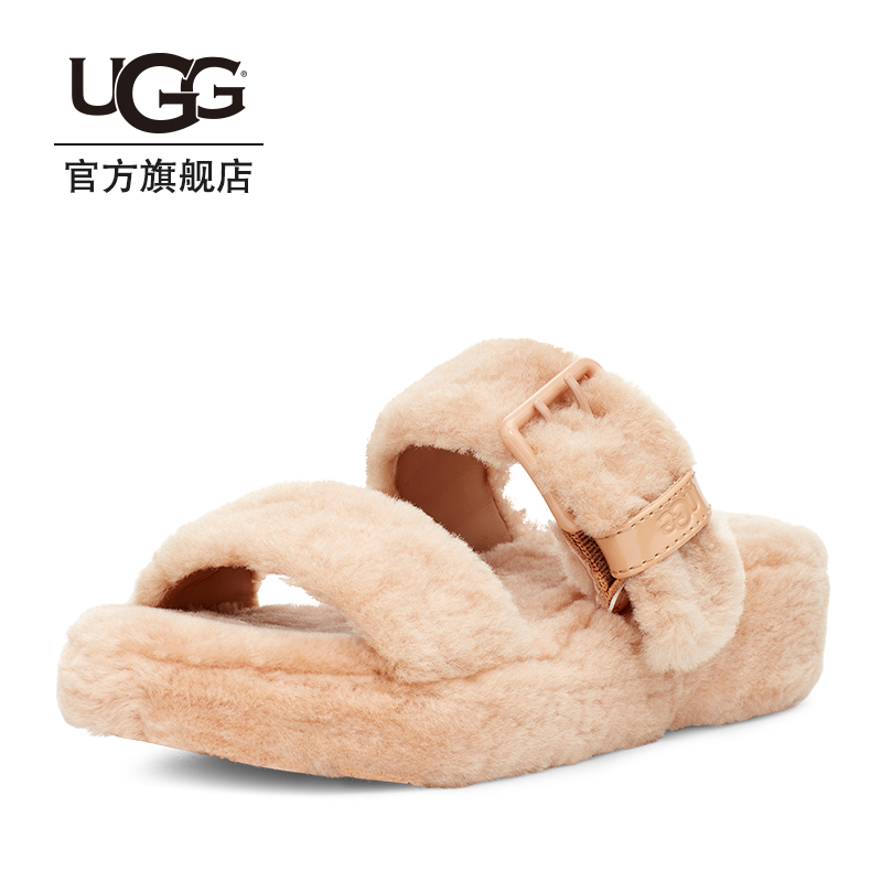 Ugg2020 spring and summer new women's wool sandals fashion leisure fairy thick bottom sandals 1111232