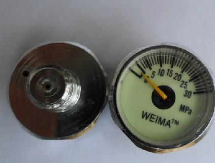 Манометр WEIMA 25MM высокая Маленький настольный дайвинг смотреть 30MPA M10 * 1 другой имеет M8*1