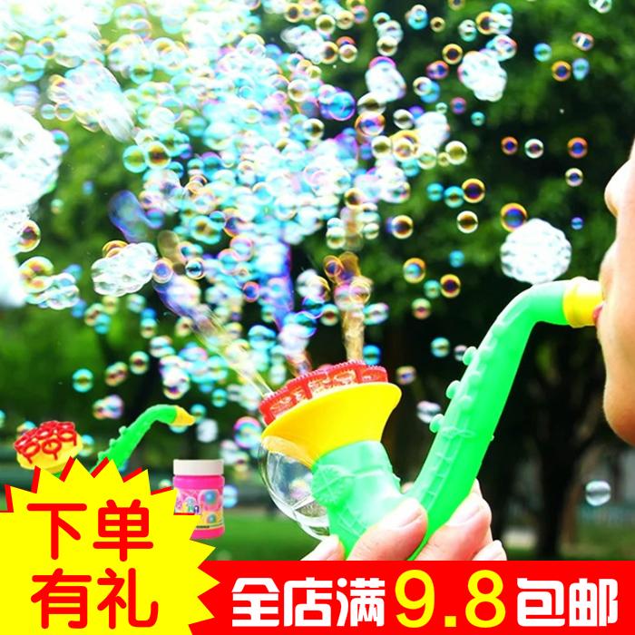 创意萨克斯泡泡枪嘴吹泡泡机手动不漏水抖音同款吹泡泡儿童玩具(非品牌)