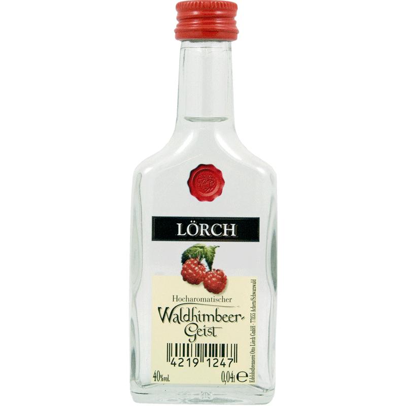 进口德国水果酒蒸馏烈酒洛奇Loerch覆盆子Waldhimbeer白兰地40ml