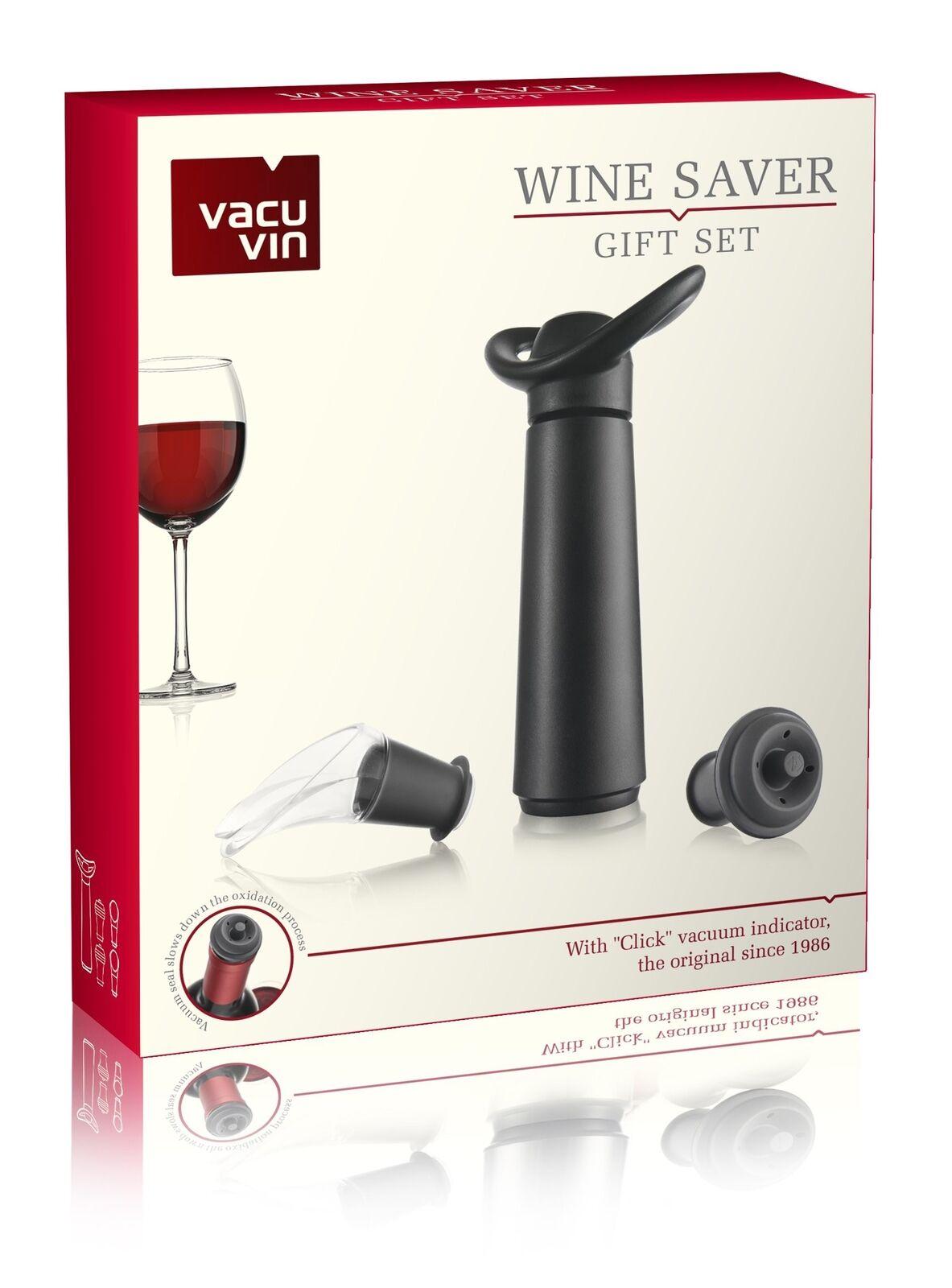 进口荷兰vacu vin红酒塞套装葡萄酒真空抽气筒引酒器保鲜真空瓶塞