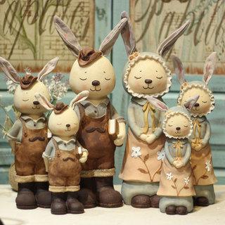 Сельская местность милый разное товары  MISS кролик серия любительский смола сохранить бак копилка выйти замуж подарок украшение, цена 619 руб